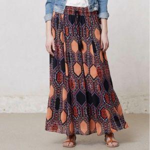Anthropologie Maeve HexPrint Maxi Geometric Skirt